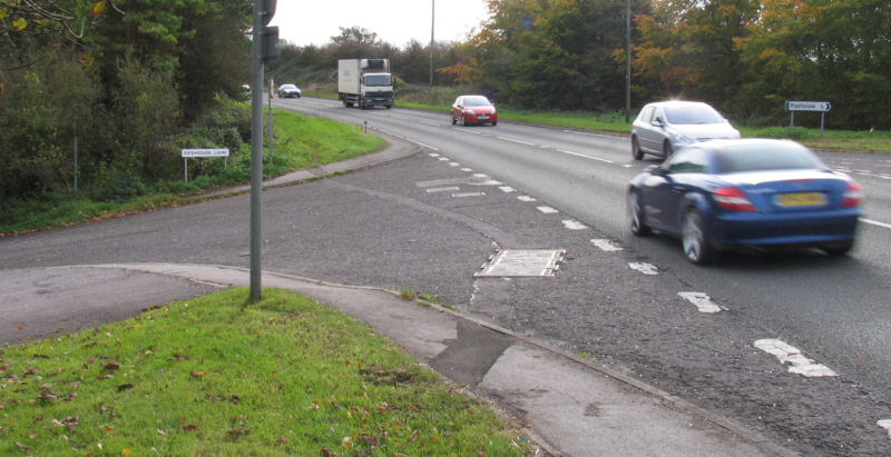 Junction A36 with Pipehouse Lane a One Way Access Road to Freshford