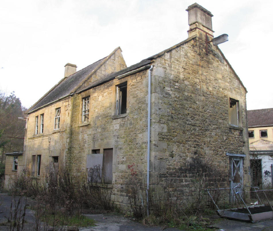 Old building at Freshford Mill in a state of disrepair