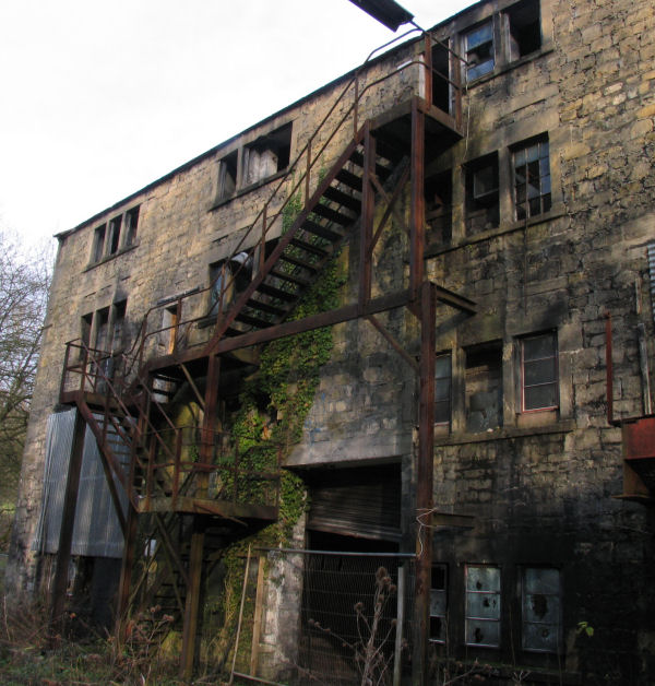 old building at Freshford Mill open to intruders by access via dangerous stairs