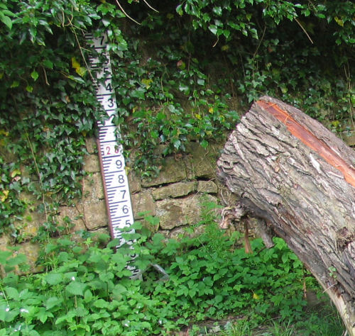 Flood level Marker attached to the Wall of Freshford Mill