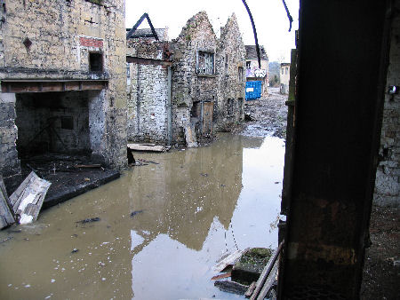 "flooded ""street"" at Freshford Mill March 2008"
